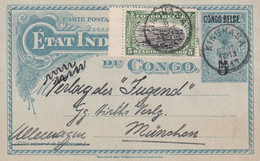 CONGO BELGE 1913   ENTIER POSTAL/GANZSACHE/POSTAL STATIONARY CARTE DE KINSHASA - Stamped Stationery