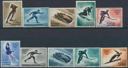 Olympische Spelen  1956 , San Marino - Zegels  Postfris - Hiver 1956: Cortina D'Ampezzo
