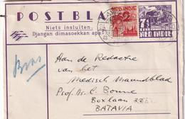 INDES NEERLANDAISES 1947   ENTIER POSTAL/GANZSACHE/POSTAL STATIONARY CARTE DE LAWANG - Netherlands Indies