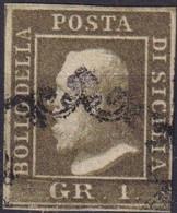 SICILIA  1 Gr. VERDE OLIVA Usato - Sicilia