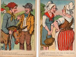 S 4   -  328 - 329 -  -   4  CARTES   FANTAISIES   -       Scènes  Rurales  Humoristiques  - - Unclassified