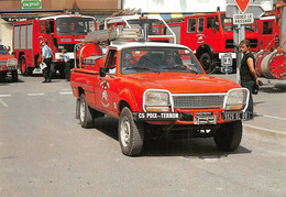 Attigny Pompiers Voiture Peugeot 504 - Attigny