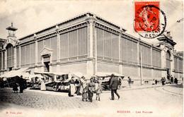 CPA BEZIERS 34 Les Halles - Beziers