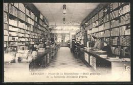 CPA Limoges, Place De La République, Hall Principal De La Mercerie Ducros Frères - Limoges