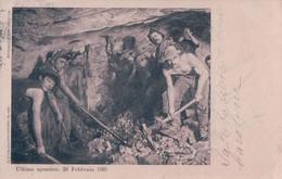 Tunnel Du Simplon, Le Percement Du Tunnel, Ouvriers à La Pioche Le 24.2.1905 (1.6.1906) - Structures