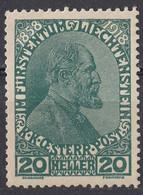 LIECHTENSTEIN - 1918 - Yvert 10 Non Obliterato, Non Gommato. - Ungebraucht