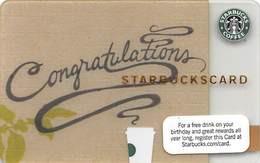Starbucks Card / Gift Card (No Actual Cash Value) - Congratulations - Gift Cards
