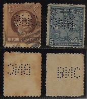 Cuba 1914 / 1919 2 Stmp Perfin BNC FromBanco Nacional De Cuba From Havana National Bank Of Cuba - Other