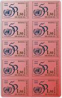 CV:46.75 Bosnia-Herzegovina Croat Post Mostar 1995 50th Anniv Of UNO 1.50k StampCard UNITED NATIONS - Bosnia And Herzegovina