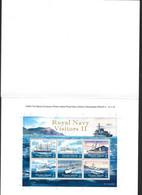 Pitcairn Islands 2010 Royal Navy Visiting Ships Series II Miniature Sheet Imperforate Proof In Folder - Pitcairn Islands