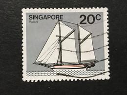 ◆◆◆SINGAPORE  1980  Hainan Junk , SC#340  ,   20c   USED   AB6043 - Singapur (1959-...)