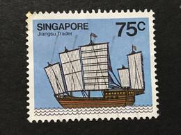 ◆◆◆SINGAPORE  1980  Hainan Junk , SC#344  ,   75c   USED   AB6044 - Singapur (1959-...)