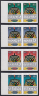 AITUTAKI 1984 Olympic Games, Los Angeles IMPERF Plate Proofs Set Of 4 Pairs - Aitutaki