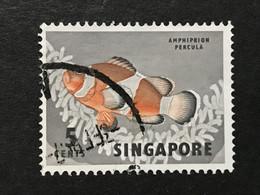 ◆◆◆SINGAPORE  1962  Malayan Fish  , SC#55  ,   5c  USED   AB6046 - Singapur (1959-...)