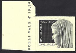 Italia 2014; Bimillenario Augusteo, Augusto Imperatore; Bordo Sinistro. - 2011-...: Mint/hinged