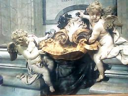 ROMA BASILICA S PIETRO ACQUASANTIERA ANGELI PUTTI  V1994 IC7322 - Churches