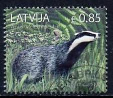 Lettonie - Lettland - Latvia 2017 Y&T N°991 - Michel N°1018 (o) - 0,85€ Blaireau - Lettland