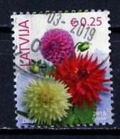 Lettonie - Lettland - Latvia 2018 Y&T N°1018 - Michel N°930II (o) - 0,25€ Dahlia - Lettland