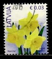 Lettonie - Lettland - Latvia 2014 Y&T N°857 - Michel N°882 (o) - 0,03€ Narcisses - Lettland