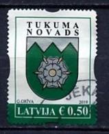 Lettonie - Lettland - Latvia 2019 Y&T N°(1) - Michel N°1064 (o) - 0,50€ Blason De Tukuma Novads - Lettland