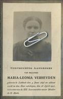 Maria Verheyden   :     Lubbeek 1895 - 1917 - Devotion Images