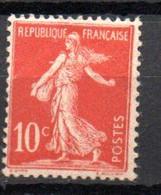 S2-3 France N° 134 ** à 10 % De La Côte !!! - 1906-38 Säerin, Untergrund Glatt
