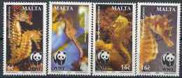 2002 MALTE 1177-80** WWF, Hippocampe - Malta