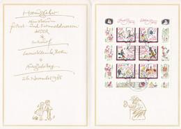 Allemagne RDA 1985 2610-15 FS Grimm Bicentenaire Naissance Des Frères Grimm Portrait Le Vaillant Petit Tailleur - FDC: Ersttagsblätter