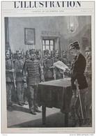 L'affaire Dreyfus - Notification Au Condamné De L'arrêt Du Conseil De Guerre -  Page Original 1894 - Documentos Históricos