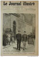 L'affaire Du Haute Trahison - Le Capitaine Dreyfus Se Rendant à L'interrogatoire - Page Original 1894 - Documentos Históricos