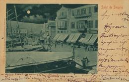 TRES RARE - CPA Smyrne - Salut De Smyrne - Les Quais  - Animée - Circulée 1903 - Dos Non Divisé - Turquia