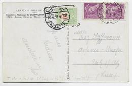 MERCURE 20C PAIRE CARTE VERDUN MEUSE 19.6.1939 POUR LUXEMBOURG TAXE 20C ESCH - 1938-42 Mercure