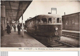 61 . Orne  :  Alencon : La Micheline  En Gare D ' Alencon . - Alencon