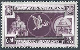 1933 REGNO POSTA AEREA ANNO SANTO 75 CENT MH * - RE15-10 - Airmail