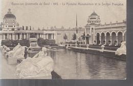 Gand (Exposition Universelle De 1913) - La Fontaine Monumentale Et La Section Française - Gent
