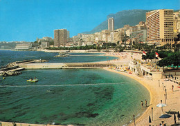 Monaco Monte Carlo Plage Du Sea Club Et Du Larvotto Au Fond Le Loews Hotel - Monte-Carlo