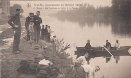 Grandes Manoeuvres En Terrain Variés 1913, à L'étape, Les Hommes Se Lavent à La Meuse - Maniobras