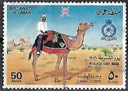Oman 1986 Police Day Camel Used - Oman