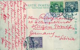 1910  JAPÓN , T.P. CIRCULADA VIA SIBERIA , TOKYO - HAGEN , ASAKUSA PARK - Cartas