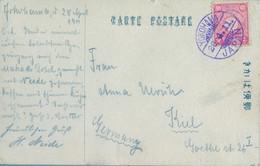1911  JAPÓN , T.P. CIRCULADA , YOKOHAMA - KIEL - Cartas
