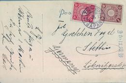 1911  JAPÓN , T.P. CIRCULADA , TSURUGA - STETTIN , RYOTONO - MATSU JYOGU - Cartas