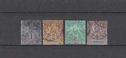 4 TIMBRES DIEGO-SUAREZ OBLITERES DE 1892 & 1893     Cote : 14 € - Used Stamps