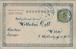 1901 , JAPÓN , T.P. CIRCULADA , YOKOHAMA - VIENA , LLEGADA - Cartas