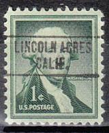 Locals USA Precancel Vorausentwertung Preo, Locals California, Lincoln Acres 748 - Precancels