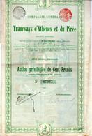 Tramways D'Athènes Et Du Pirée En 1899 - Railway & Tramway