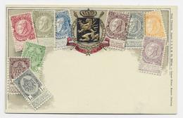 BELGIQUE BELGIE  CARTE CARD  GAUFFREE - 1893-1907 Coat Of Arms
