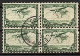 Congo - COB PA9 - Bloc De 4 - Léopoldville - 1947 - Avion - Poste Aérienne - A14 - Airmail: Used