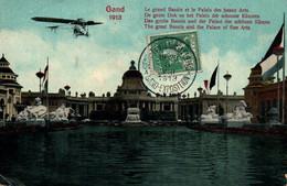 CPA - GAND - EXPO Universelle 1913 - Le Gd Bassin Et Palais Des Beaux-Arts  ... (affranchissement TP) - Gent