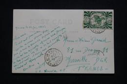 NOUVELLE CALÉDONIE - Affranchissement France Libre De Nouméa Sur Carte Photo En 1946 Pour Marseille - L 95698 - Cartas