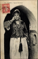 CPA Algerien, Type De Mauresque, Maghreb, Frau In Tracht - Costumi
